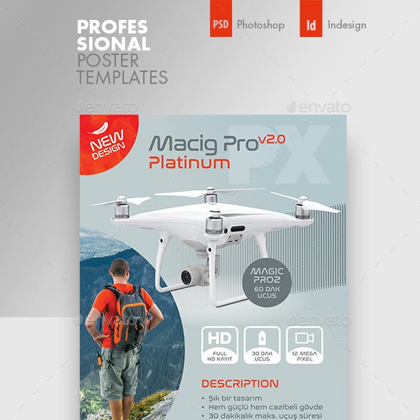 Drone Technology Poster Templates