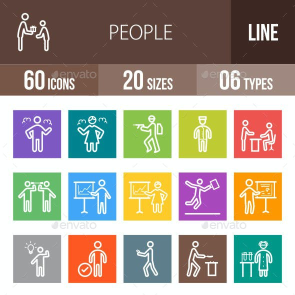 People Line Multicolor Icons