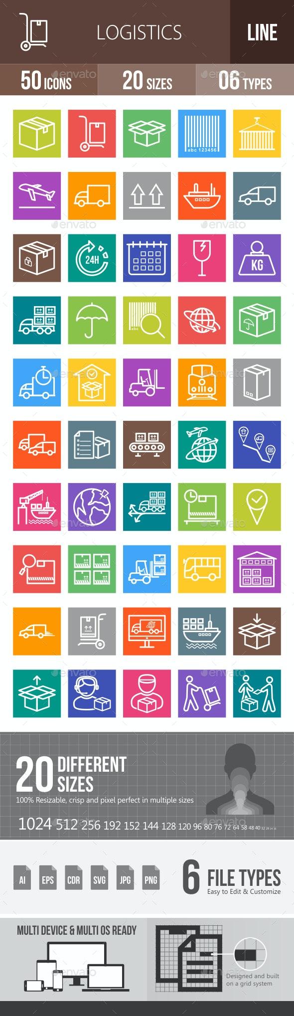 Logistics Line Multicolor Icons - Icons