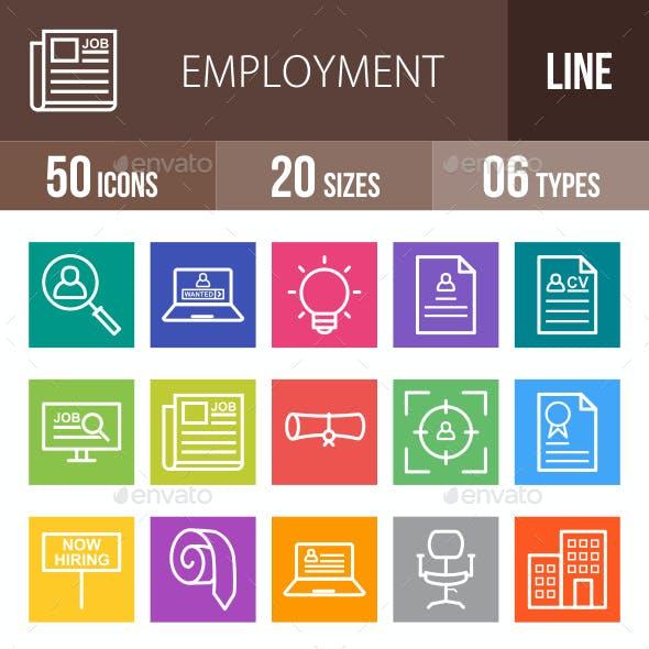 Employment Line Multicolor Icons