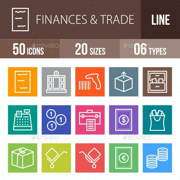 Finances & Trade Line Multicolor Icons
