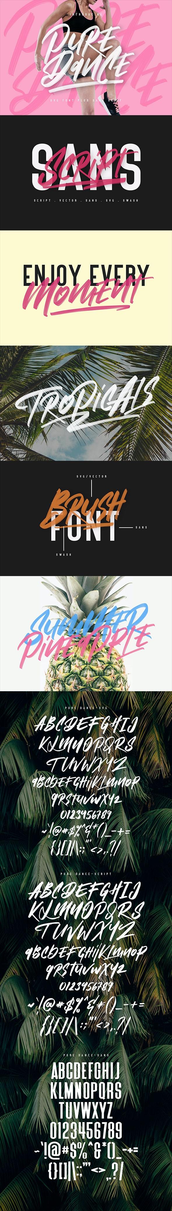 Pure Dance Brush Font - Hand-writing Script