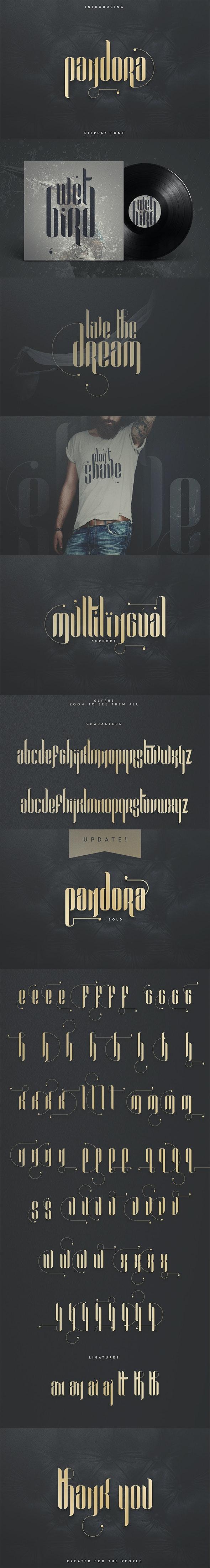 Pandora Display font - Sans-Serif Fonts
