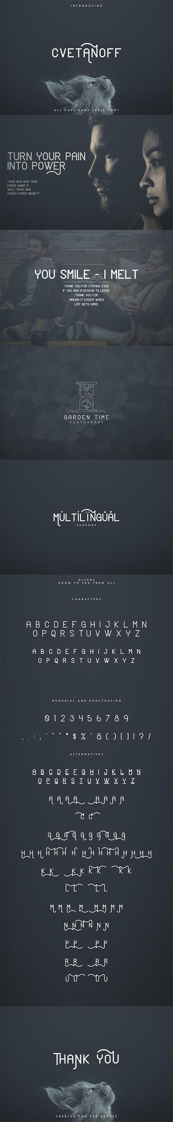 Cvetanoff Sans Serif font - Sans-Serif Fonts