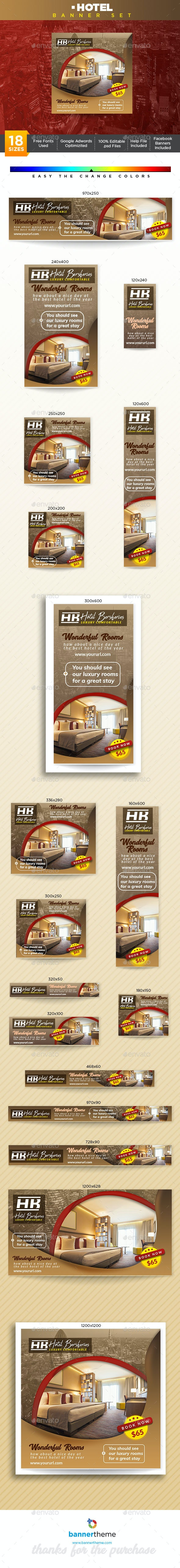 Hotel Banner - Banners & Ads Web Elements