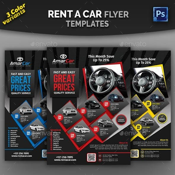 Rent a Car Flyer Templates