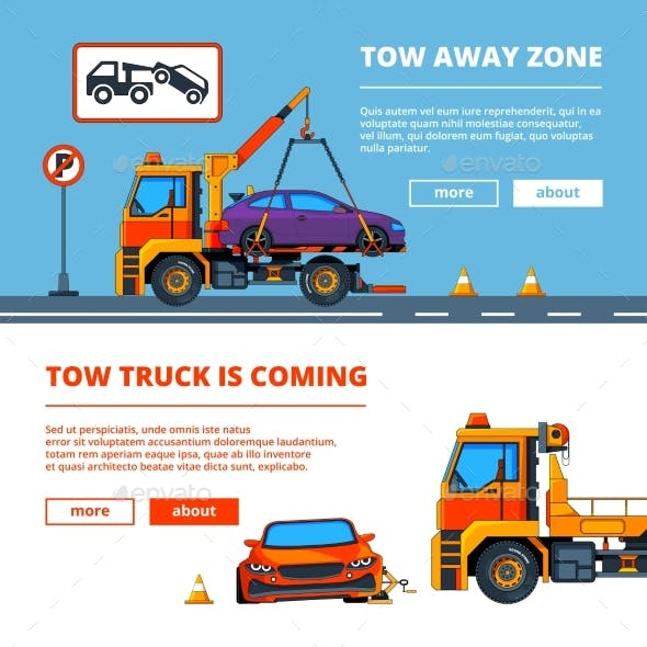 Car Accident in Town. Illustrations of Car