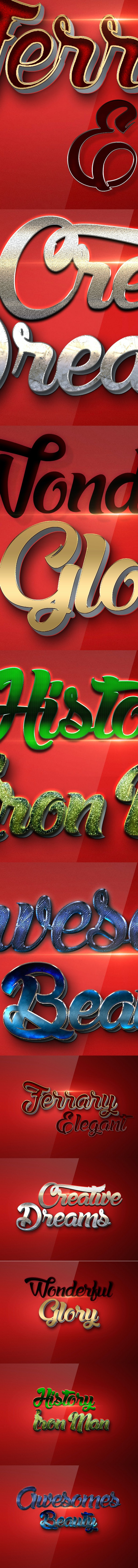 10 3D Text Styles R18 - Text Effects Styles