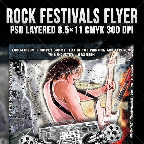 Rock Festivals Flyer