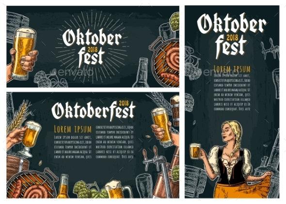 Three Poster to Oktoberfest Festival - Miscellaneous Seasons/Holidays