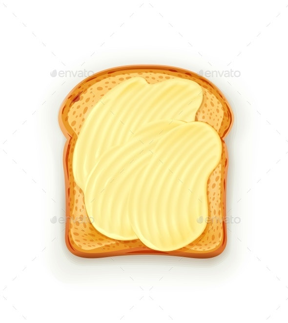 Sandwich with Butter - Food Objects