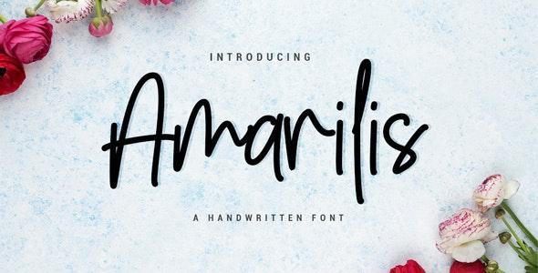 Amarilis Script Font - Hand-writing Script