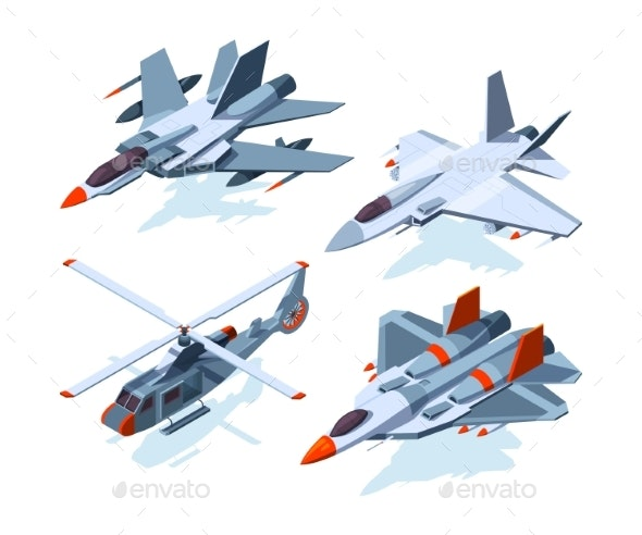 Military Aircrafts Isometric - Man-made Objects Objects