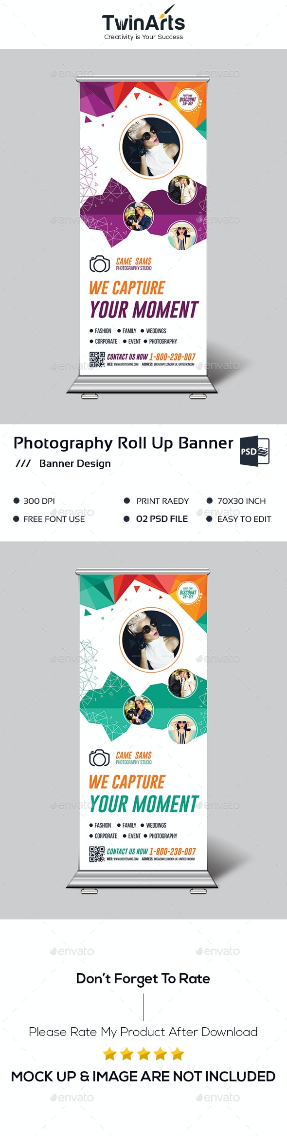 Photography Roll up Banner - Signage Print Templates