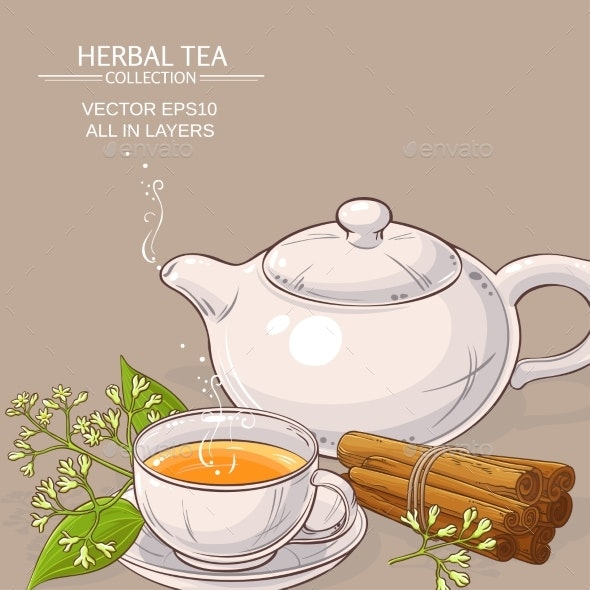 Cinnamon Tea Illustration - Food Objects