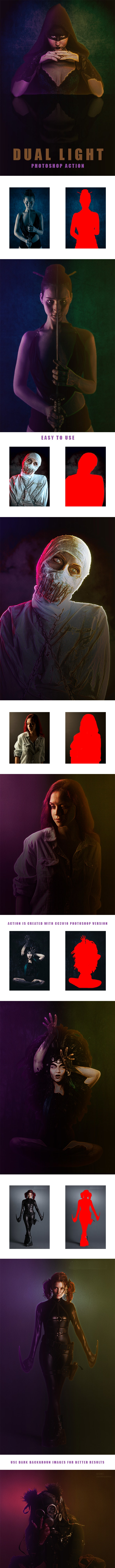 Dual Light - Photoshop Action - Photo Effects Actions