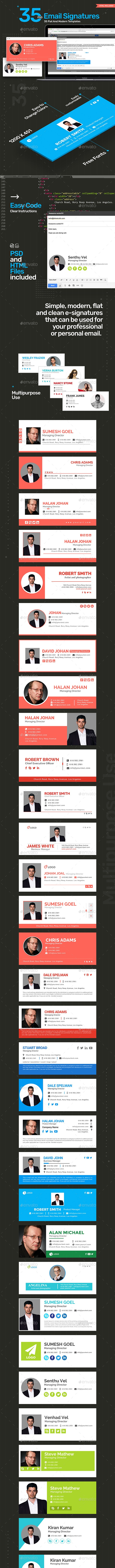 Email Signature - 35 Templates - Updated! - Miscellaneous Web Elements