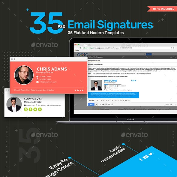 Email Signature - 35 Templates - Updated!