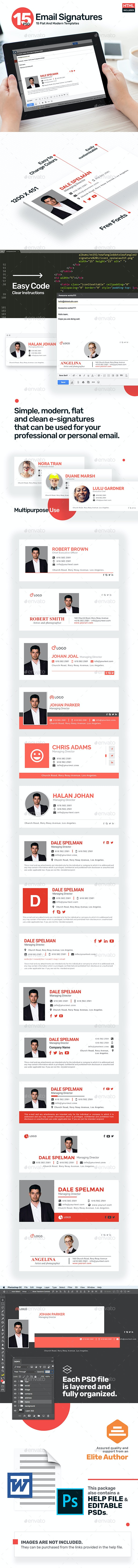 15 Email Signature Templates - HTML Files Included - Updated! - Miscellaneous Web Elements