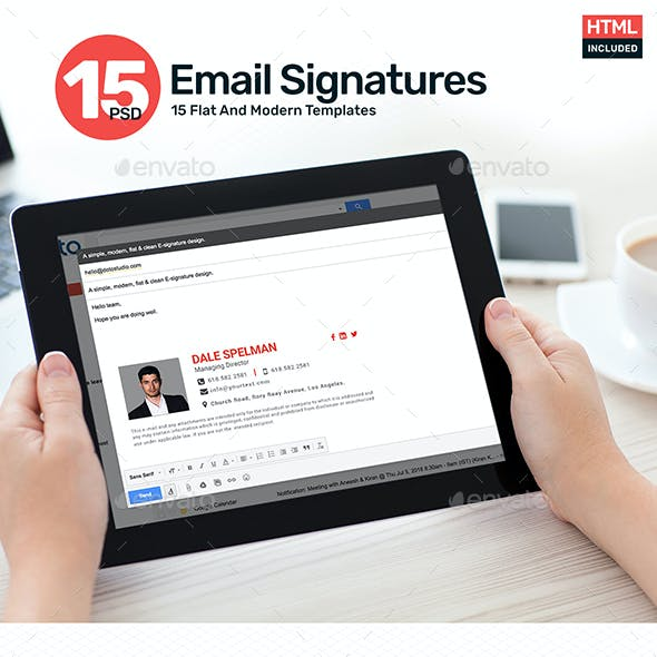 15 Email Signature Templates - HTML Files Included - Updated!