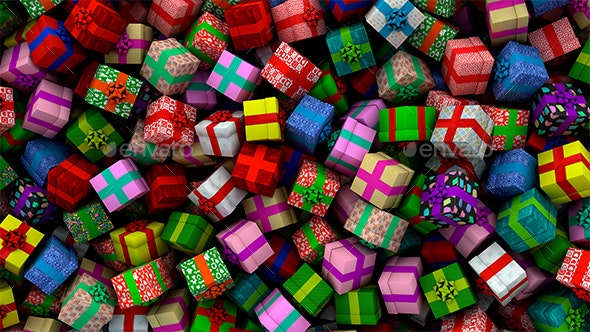 Pile Of Gift Boxes - 3D Backgrounds