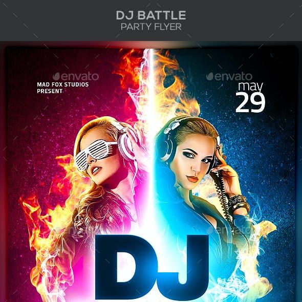 Dj Battle Party Flyer