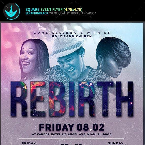 Rebirth Gospel Concert Square Flyer Template
