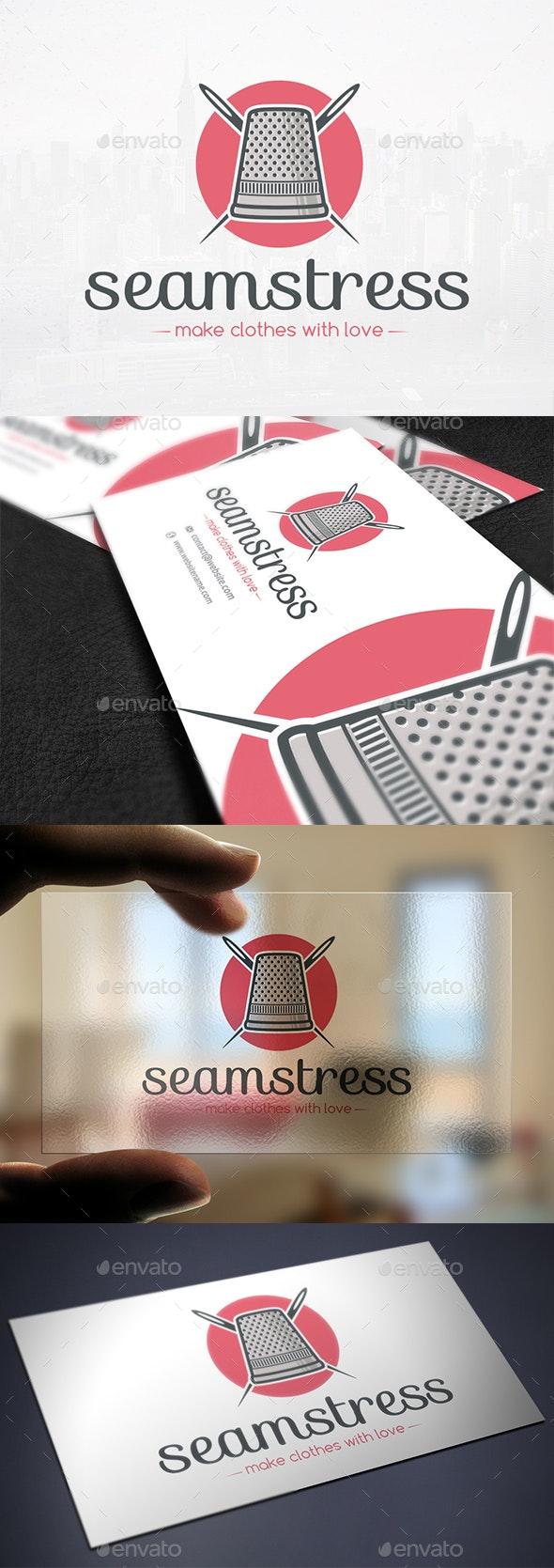 Thimble & Needle Logo - Objects Logo Templates
