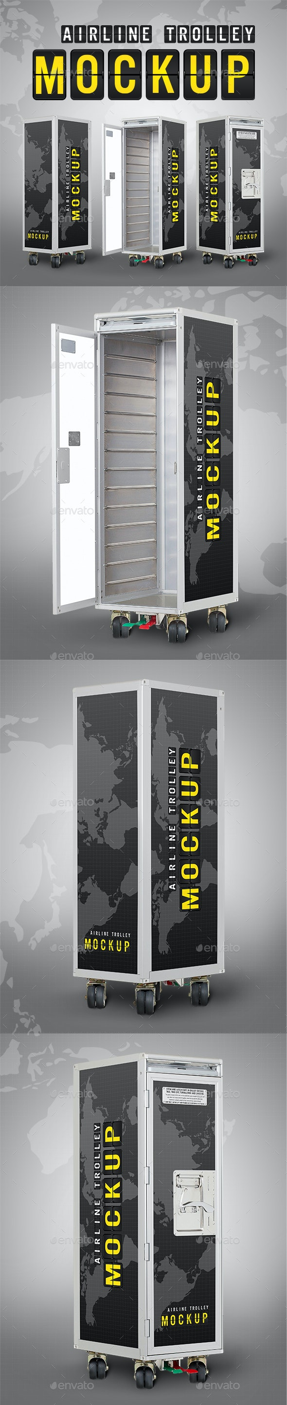 Airline Trolley Mockup - Product Mock-Ups Graphics