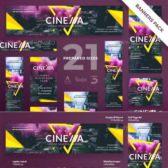 Cinema Club Banner Pack