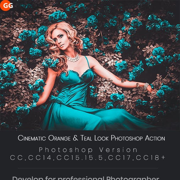 10 Cinematic Orange & Teal Look Photoshop Action