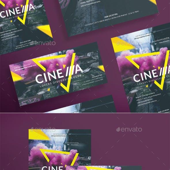 Cinema Club Flyers