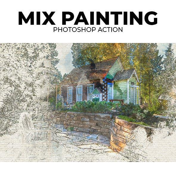 Mix Painting Photoshop Action