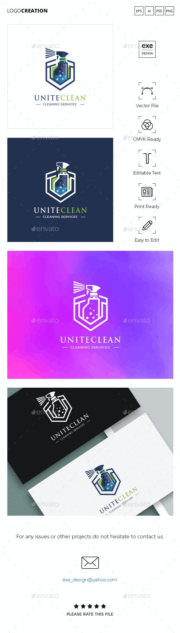 Cleaning Logo - Company Logo Templates