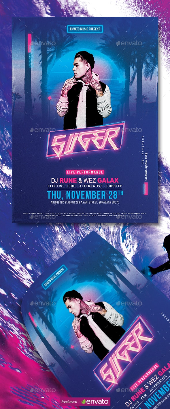 Suger Music Party Flyer - Clubs & Parties Events