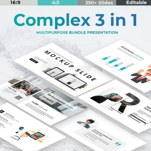 Complex Bundle 3 in 1 - Creative & Minimal Powerpoint Template