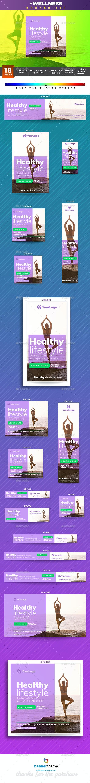 Wellness Banner - Banners & Ads Web Elements