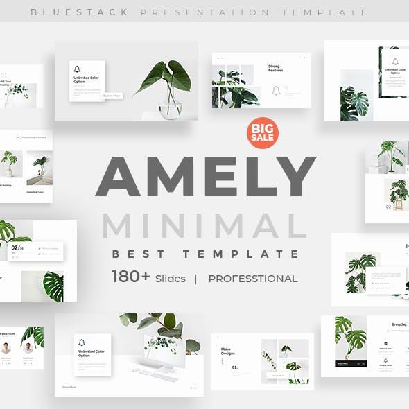 Amely Minimal Design Google Slide Template