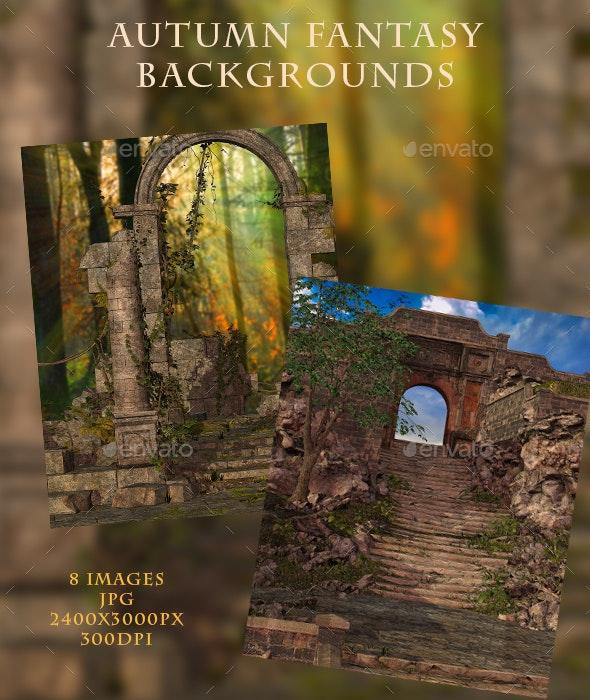 Autumn Fantasy Backgrounds - Nature Backgrounds