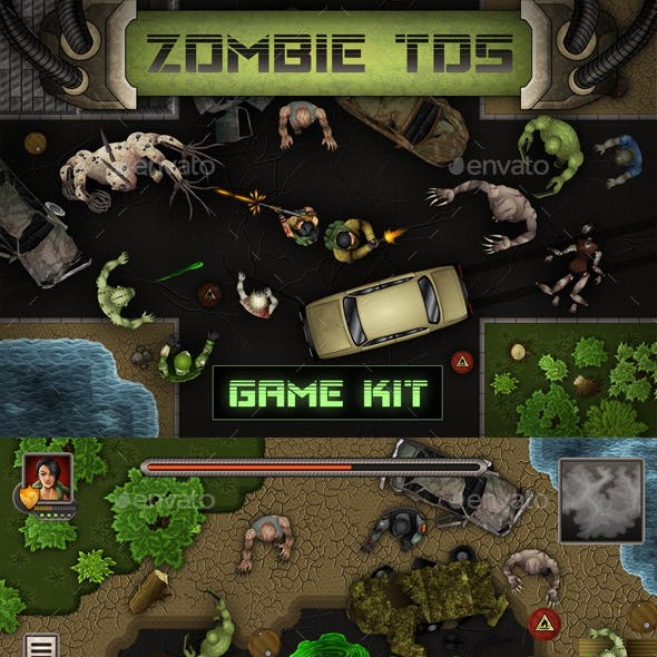 Zombie Top-Down Shooter Game Kit