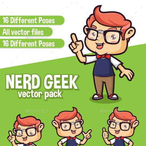 Nerd Geek Vector Set