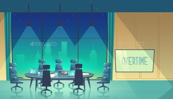 Vector Overtime Concept - Concepts Business