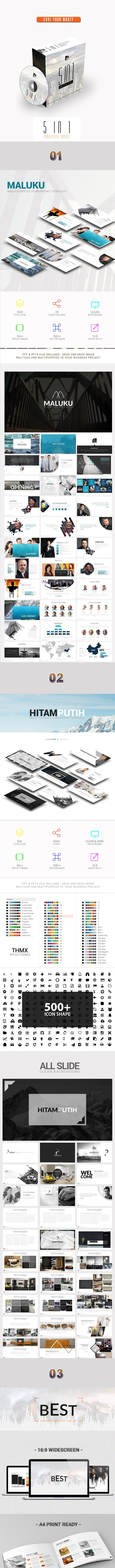 5 In 1 Powerpoint Bundle - Business PowerPoint Templates