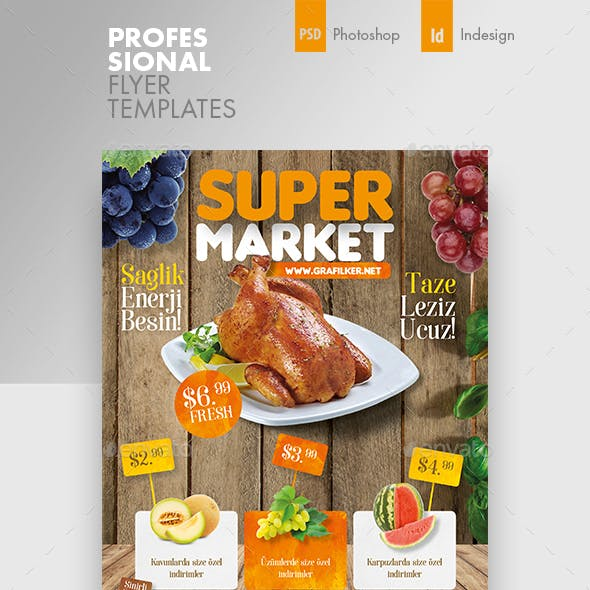 Supermarket Promotion Flyer Templates