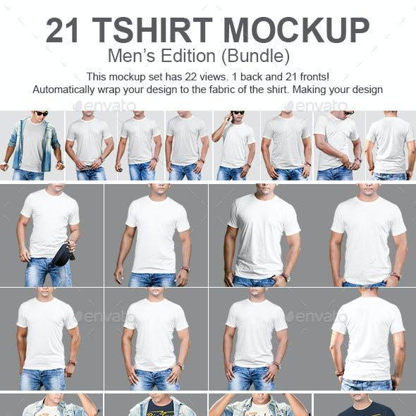 21 Mens Tshirt Mockup Bundle
