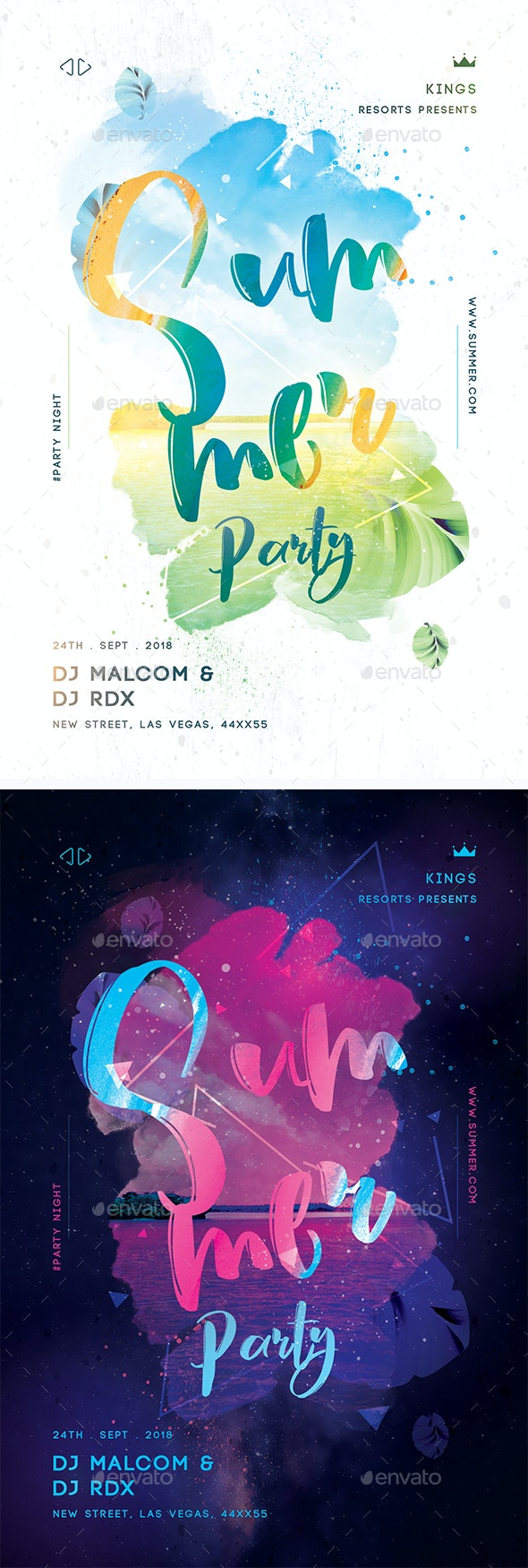 Summer Party Creative Flyer - Clubs & Parties Events