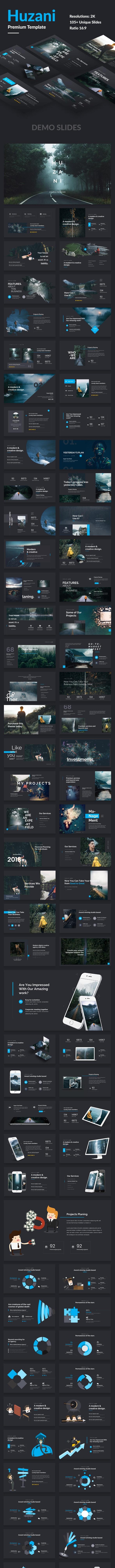 Huzani Premium Design Keynote Template - Creative Keynote Templates