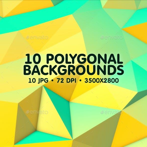 10 Polygonal Backgrounds