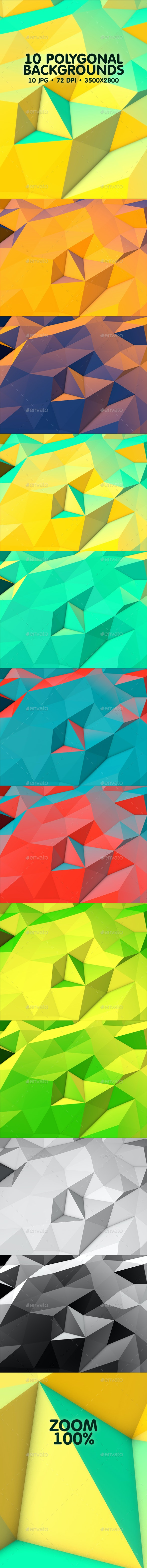 10 Polygonal Backgrounds - Backgrounds Graphics