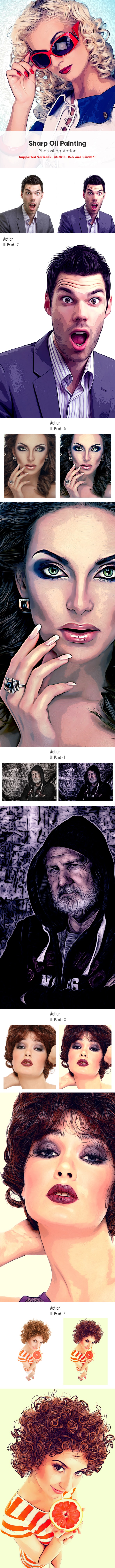 Sharp Oil Paint Action - Photo Effects Actions